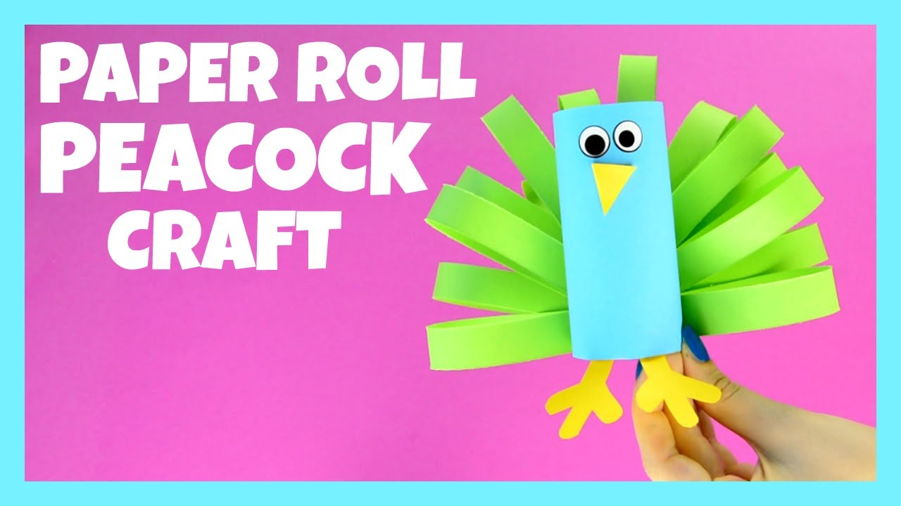 paper roll peacock craft paper roll peacock craft simple crafts for 5129