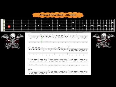 Bass - Afterlife - Avenged Sevenfold | A7X ( Tab Bass Cover )