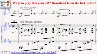 Massenet's Meditation from Thais piano and violin sheet music - Video Score