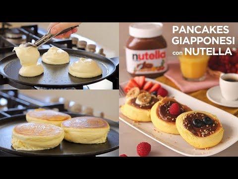 PANCAKES GIAPPONESI con NUTELLA® Ricetta Facile di Benedetta - JAPANESE FLUFFY PANCAKES Easy Recipe