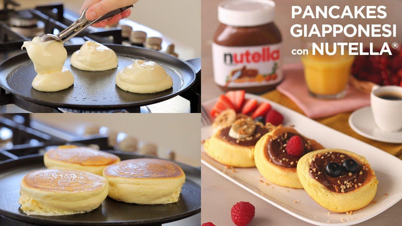 Ricetta Japanese Pancakes.Pancakes Giapponesi Con Nutella Ricetta Facile Di Benedetta Japanese Fluffy Pancakes Easy Recipe Youtube