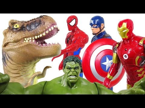 Thumbnail: Marvel the Avengers! If we join forces, it's about dinosaurs! - DuDuPopTOY