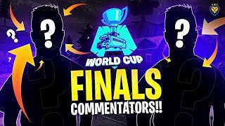 NOW PRESENTING YOUR WORLD CUP FINALS COMMENTATORS!!! (Fortnite: Battle Royale)