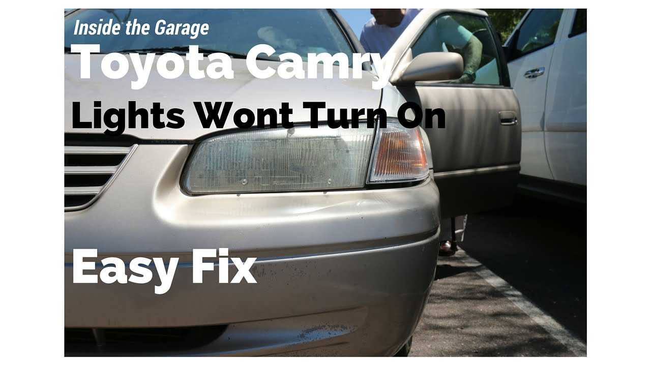 Toyota Camry Lights Not Working Youtube Interior Wiring Diagram For 1993 Corvette
