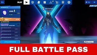 Season 10 FULL BATTLE PASS Skins, Challenges,Map-Season X Fortnite Battle Pass