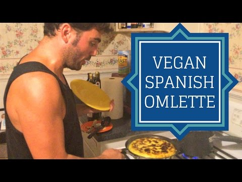 Tortilla Espanola - Spanish Omelette using Follow Your Heart Vegan Egg