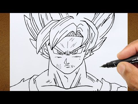 Como Desenhar o Goku Super Saiyan Blue | Dragon Ball Super