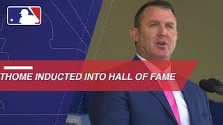Jim Thome is inducted into the Baseball Hall of Fame