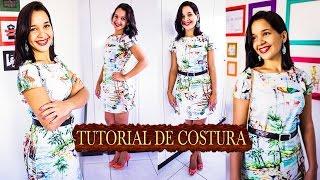 Corte e Costura: Vestido Evasê Simples [ vestido fácil – iniciante]