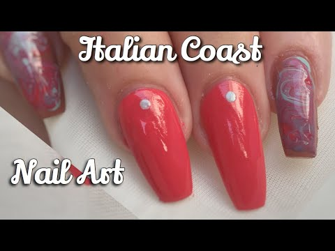 Needle Nail Art Essies Italian Coast Youtube