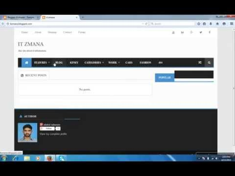 how to install custom blogger template using xml file youtube