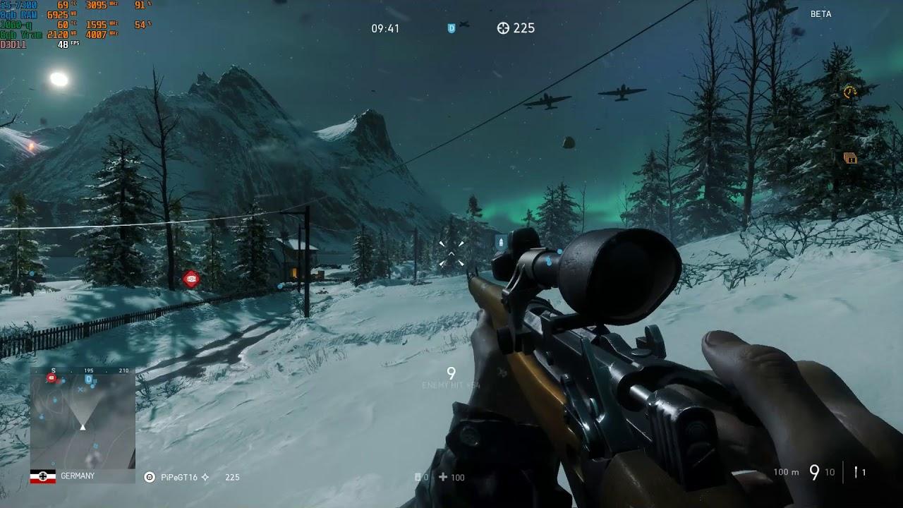 Battlefield V Beta - Custom Settings - i5 7300HQ GTX 1060 [Dell 7577]