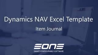 Excel Integration with Dynamics NAV - Item Journal