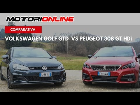 Peugeot 308 GT HDi VS Volkswagen Golf GTD | Test Drive, Pregi e Difetti