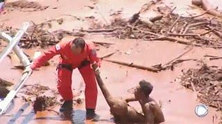 Mensen uit de modder gered in Brazilië na doorbreken dam- RTL NIEUWS