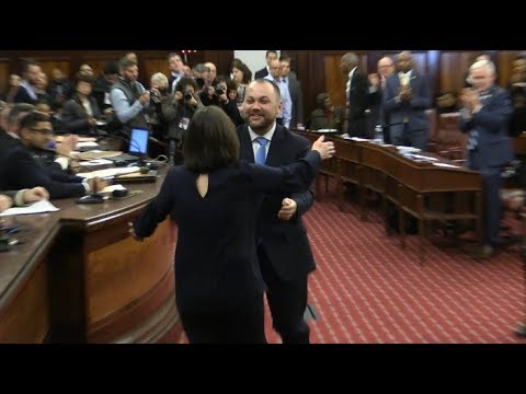Emotional Moment: Corey Johnson Elected City Council Speaker 1318