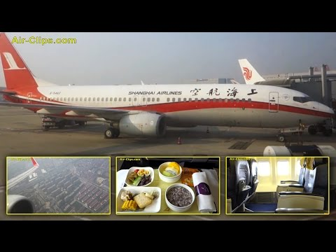 Shanghai Airlines Boeing 737-800 Business Class Shanghai to Shenzen [AirClips full flight series]