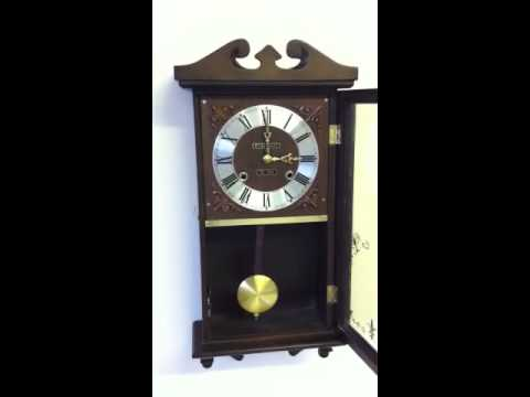 31 Day President Wind Up Wall Clock Chime Youtube