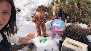 Eğlenceli Yolculuk Vlog İlk Kar ile Slime Tamiri Oyuncak Bebekler ile Bidünya Oyuncak