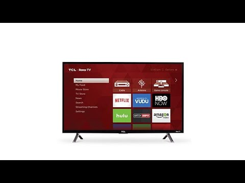 """TCL 32"""" HD Roku Streaming Smart LED TV with HDMI Cable"""