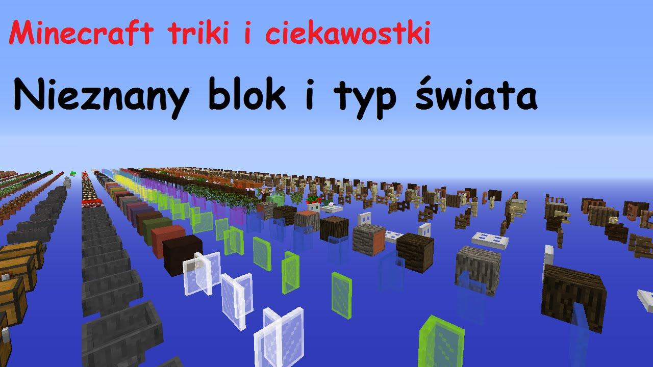Minecraft Triki I Ciekawostki 13 Nowy Typ Swiata I Nieznany Blok