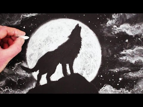 how to draw a wolf narrated