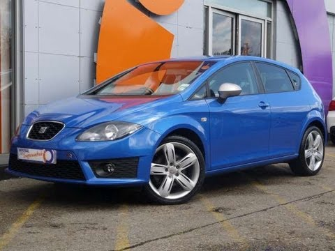 2010 seat leon fr 2 0tdi 170 dsg blue 5dr for sale in hampshire youtube. Black Bedroom Furniture Sets. Home Design Ideas