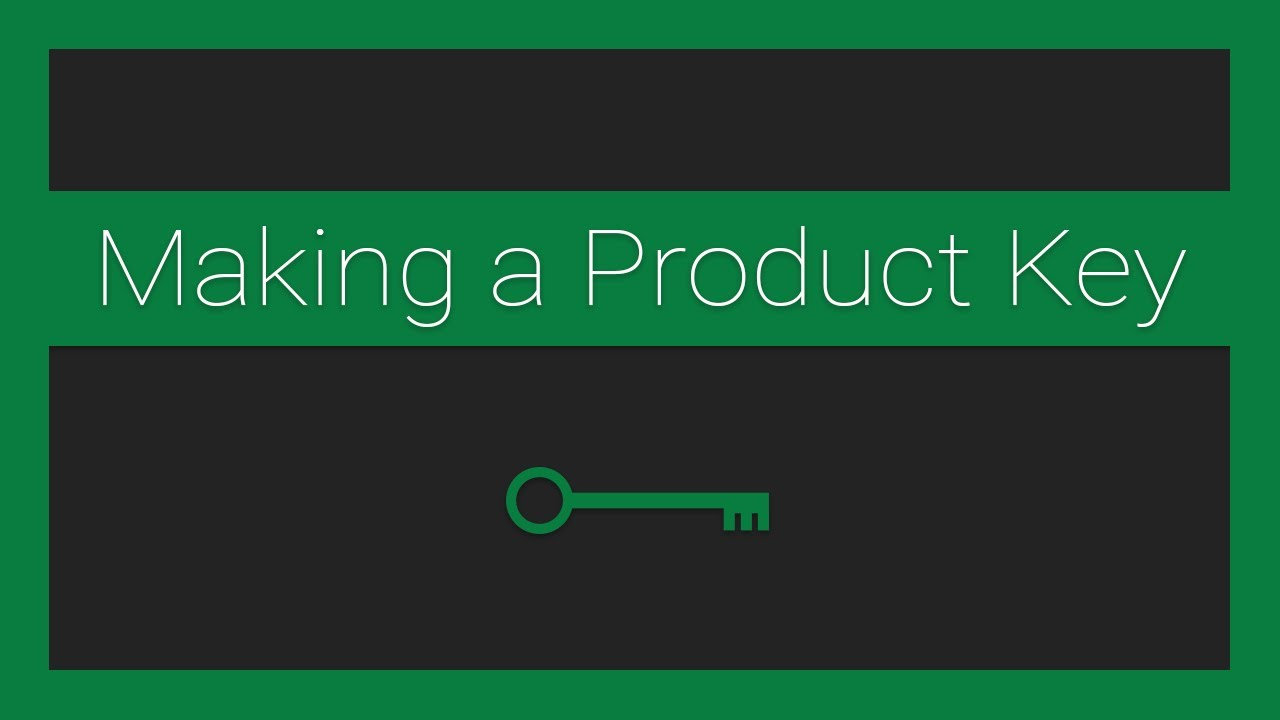 How to Make a Product Key for your Node.js Application