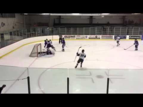 Nichols College hockey - Tyler Bealsey scores his 100th career point vs Stonehill
