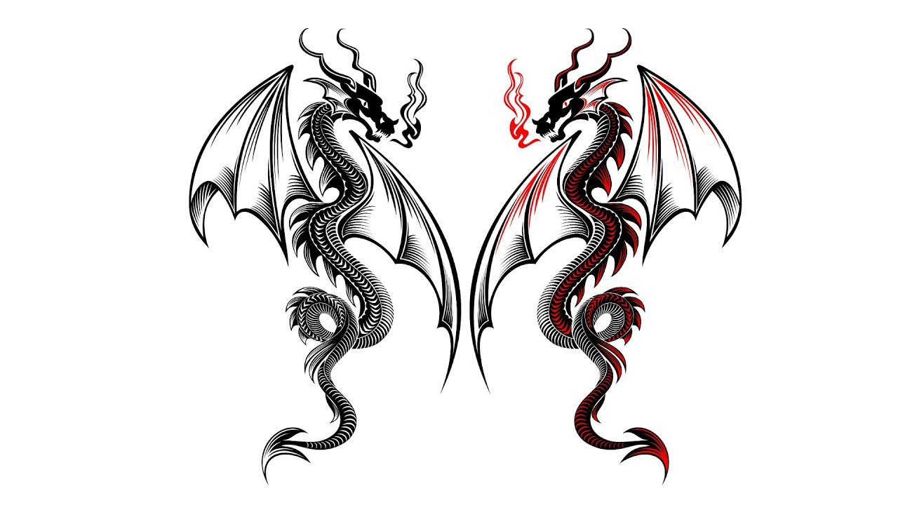 Coreldraw dragon vector character drawing technique youtube coreldraw dragon vector character drawing technique ccuart Images