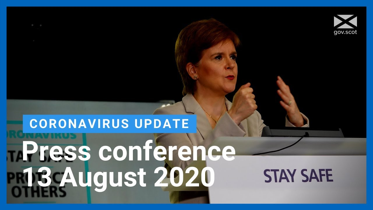 Coronavirus update from the First Minister: 13 August 2020