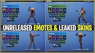 *NEW* Fortnite: ALL Leaked Skins doing Leaked Emotes! *Pumpkin and More!*