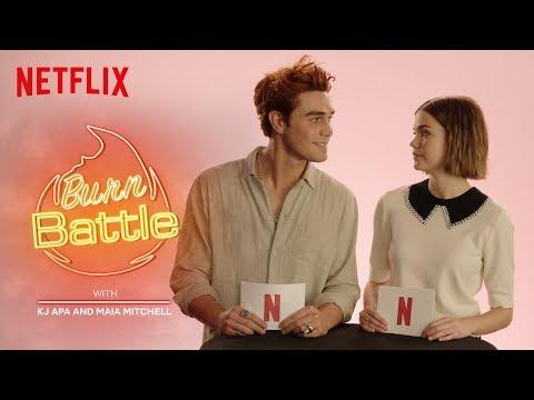 KJ Apa & Maia Mitchell BURN BATTLE: New Zealand VS Australia | The Last Summer | Netflix