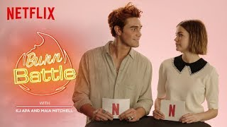 KJ Apa & Maia Mitchell BURN BATTLE: New Zealand VS Australia | The Last Summer | Netflix