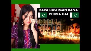 Indian Girl Reacts on BARA DUSHMAN BANA PHIRTA HAI   Reaction  