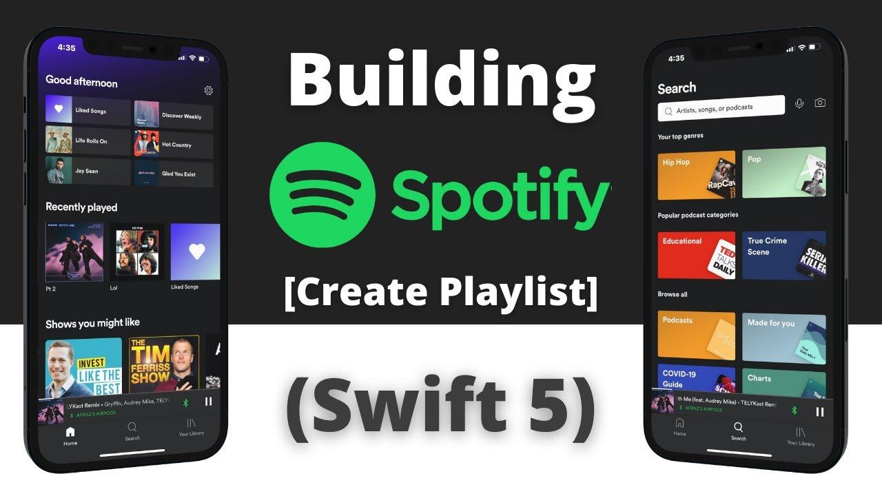 Building Spotify App in Swift 5 & UIKit - Part 22 - Create Playlist (Xcode 12, 2021, Swift 5)