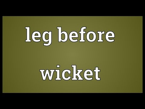 Leg before wicket Meaning