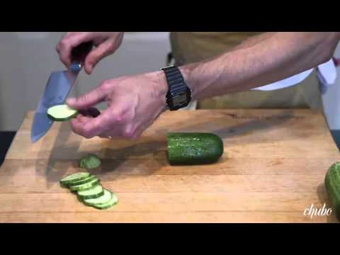 Hugh Acheson Demos How to Slice and Peel Cucumbers