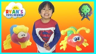 Family Fun Kids toys Cootie Game Egg Surprise Toys Challenge Marvel SuperHeroes Ryan ToysReview