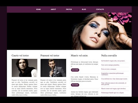 PSD To HTML. Bootstrap News Landing Page