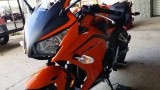 2016 Honda CBR300R Orange Sport Bike Walk-Around Video | CBR 300cc
