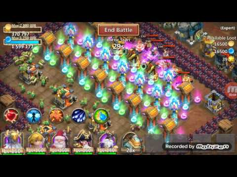 Castle Clash Expert Dungeon 6-5 Using Only 5 Heroes