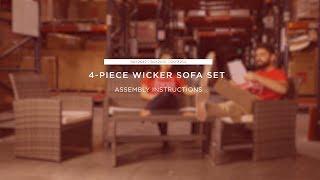 Assembly: 4-Piece Wicker Set (SKY2462 SKY2698 SKY3264)
