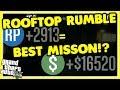GTA 5 Online Best Mission!? Rooftop Rumble!? Legit SOLO Money Method!