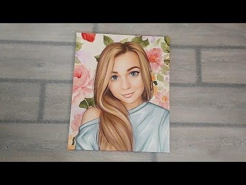 Подарок на День Рождения девушке. Портрет по фото. Москва