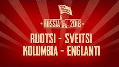 MM2018: Ruotsi-Sveitsi ja Kolumbia-Englanti | Byyri