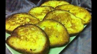 خبز مقلي بالبيض و الحليب / Fried bread with eggs and milk