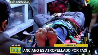 San Isidro: anciano es atropellado por un taxi en avenida Javier Prado