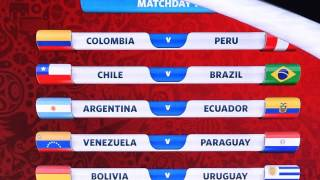 FIFA 2018 WORLD CUP South America qualifying Draw 1st Round