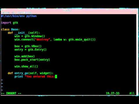 Python - GTK GUI - Activate Enter Key Press - YouTube